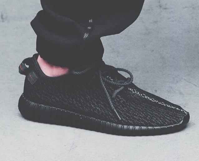 adidas Yeezy 350 Boost Low Black 1