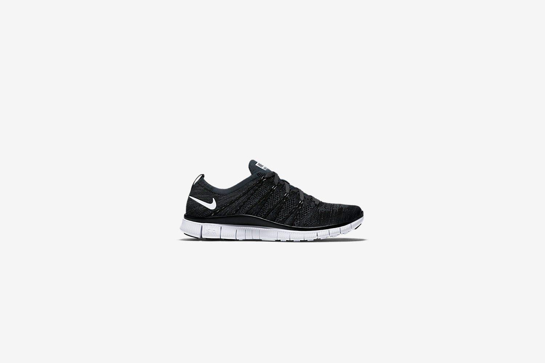 Nike Free Flyknit Black White