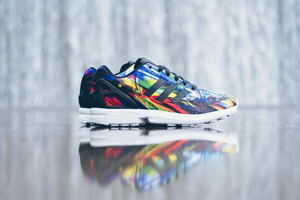 adidas Originals ZX Flux Print Black White 1