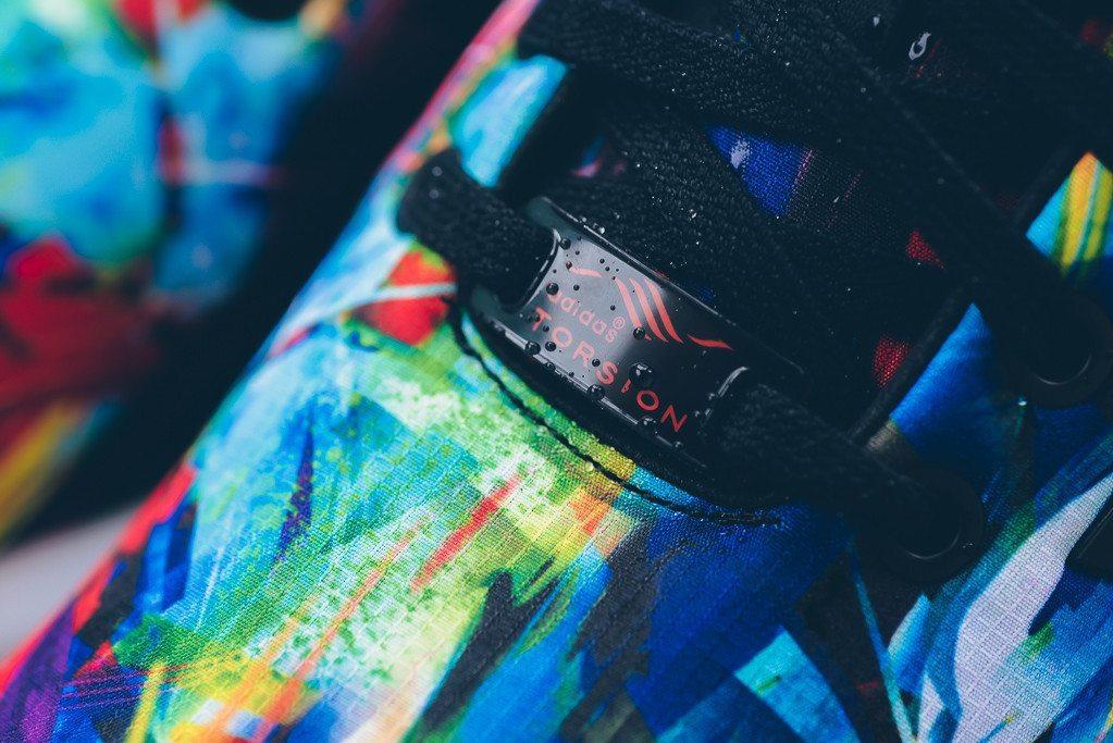 adidas Originals ZX Flux Print Black White 3