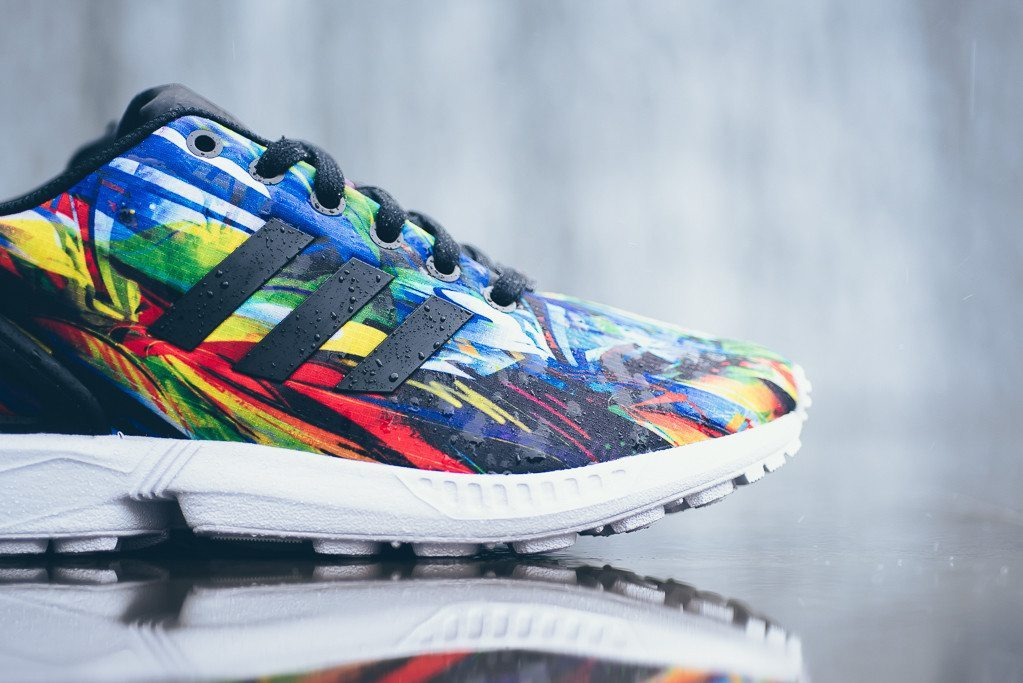 adidas Originals ZX Flux Print Black White 6