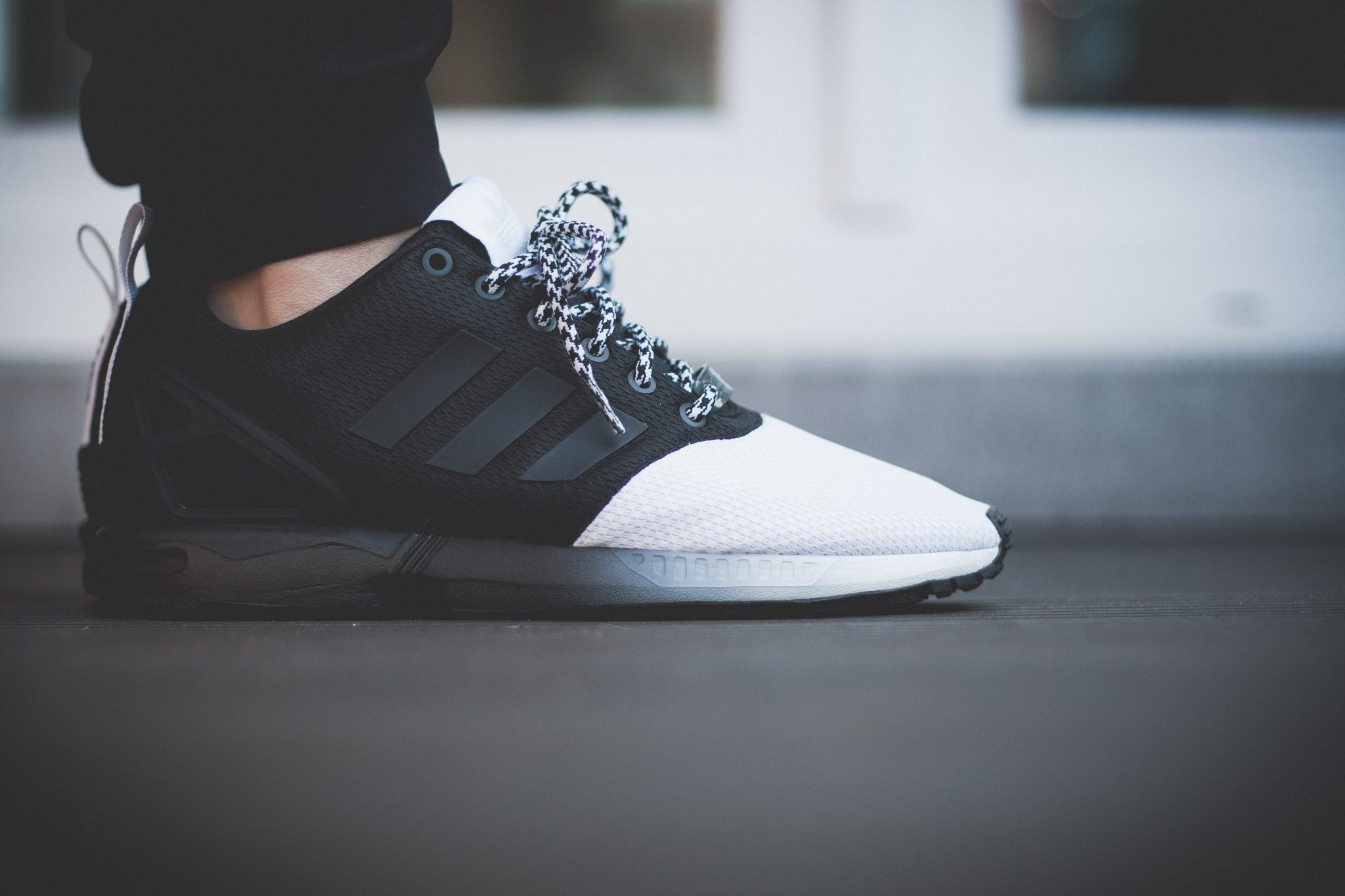 adidas Originals mi ZX Flux Forefoot Split Black White 1