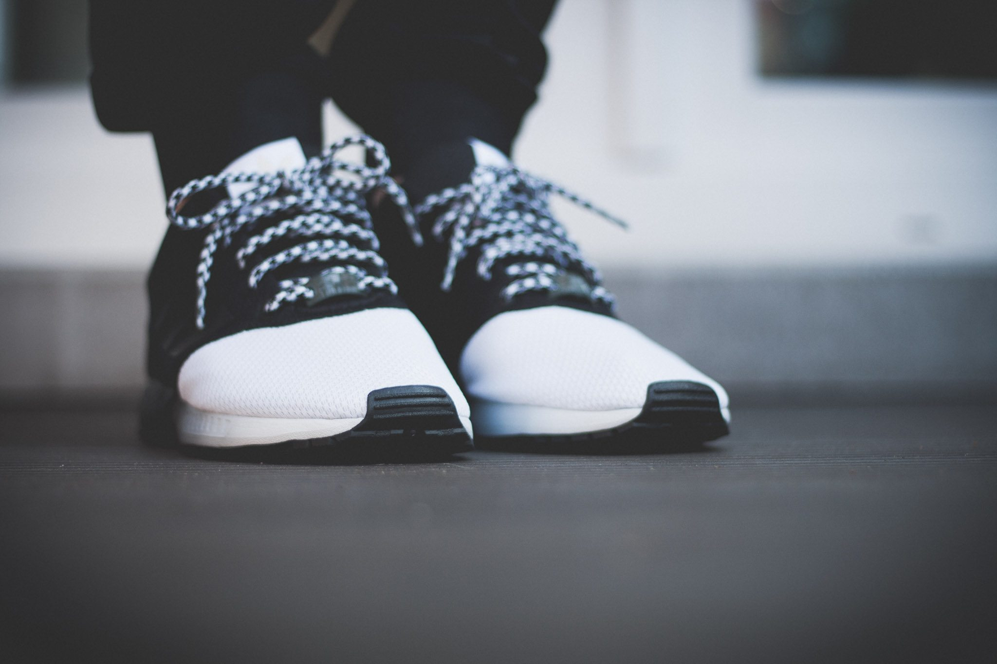 adidas Originals mi ZX Flux Forefoot Split Black White 3