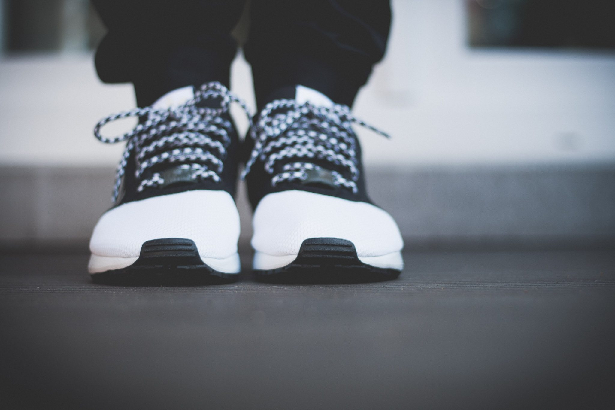 adidas Originals mi ZX Flux Forefoot Split Black White 4