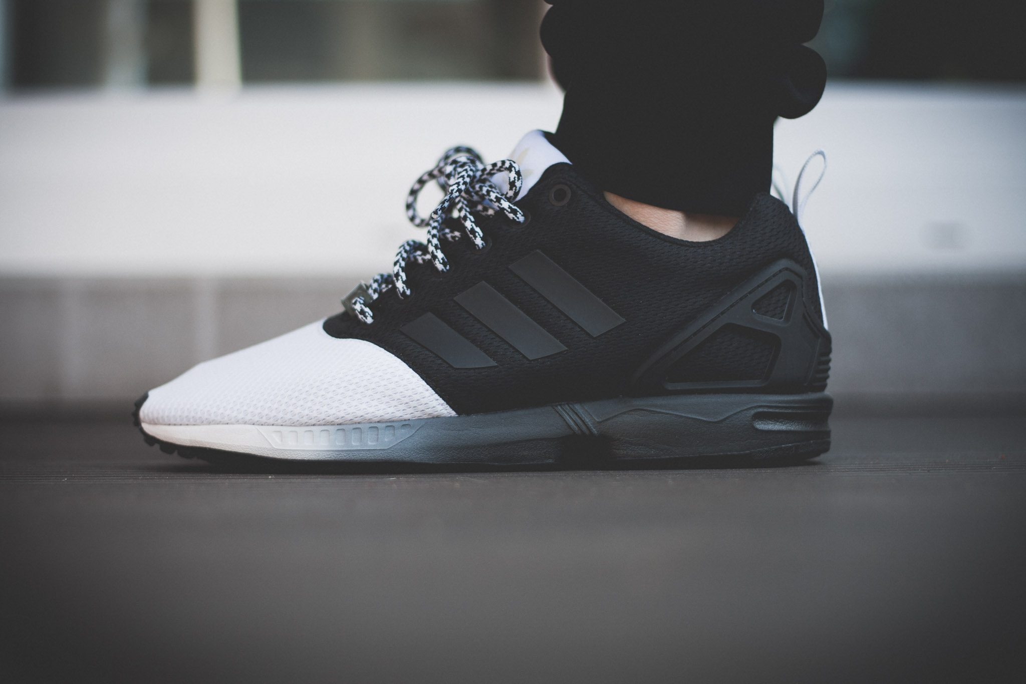 adidas Originals mi ZX Flux Forefoot Split Black White 7