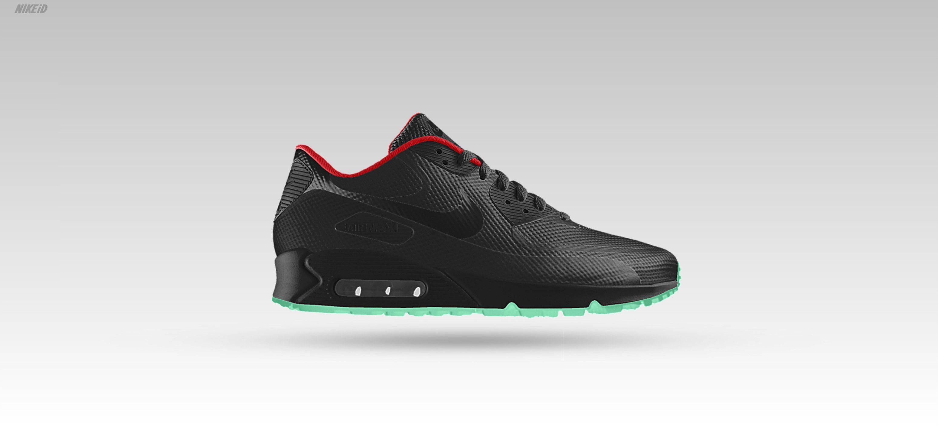 Nike Air Max 90 Hyperfuse iD Black Solar