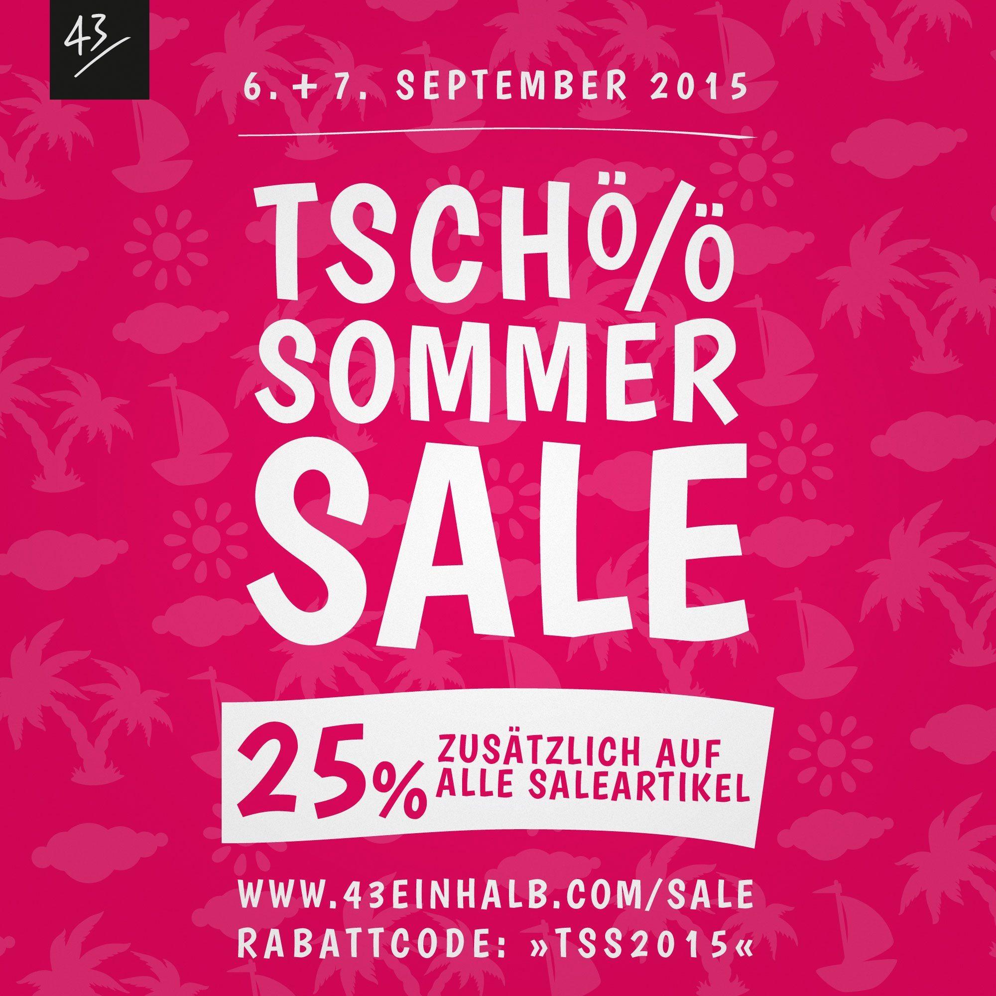 43einhalb Sommer Sale 2015