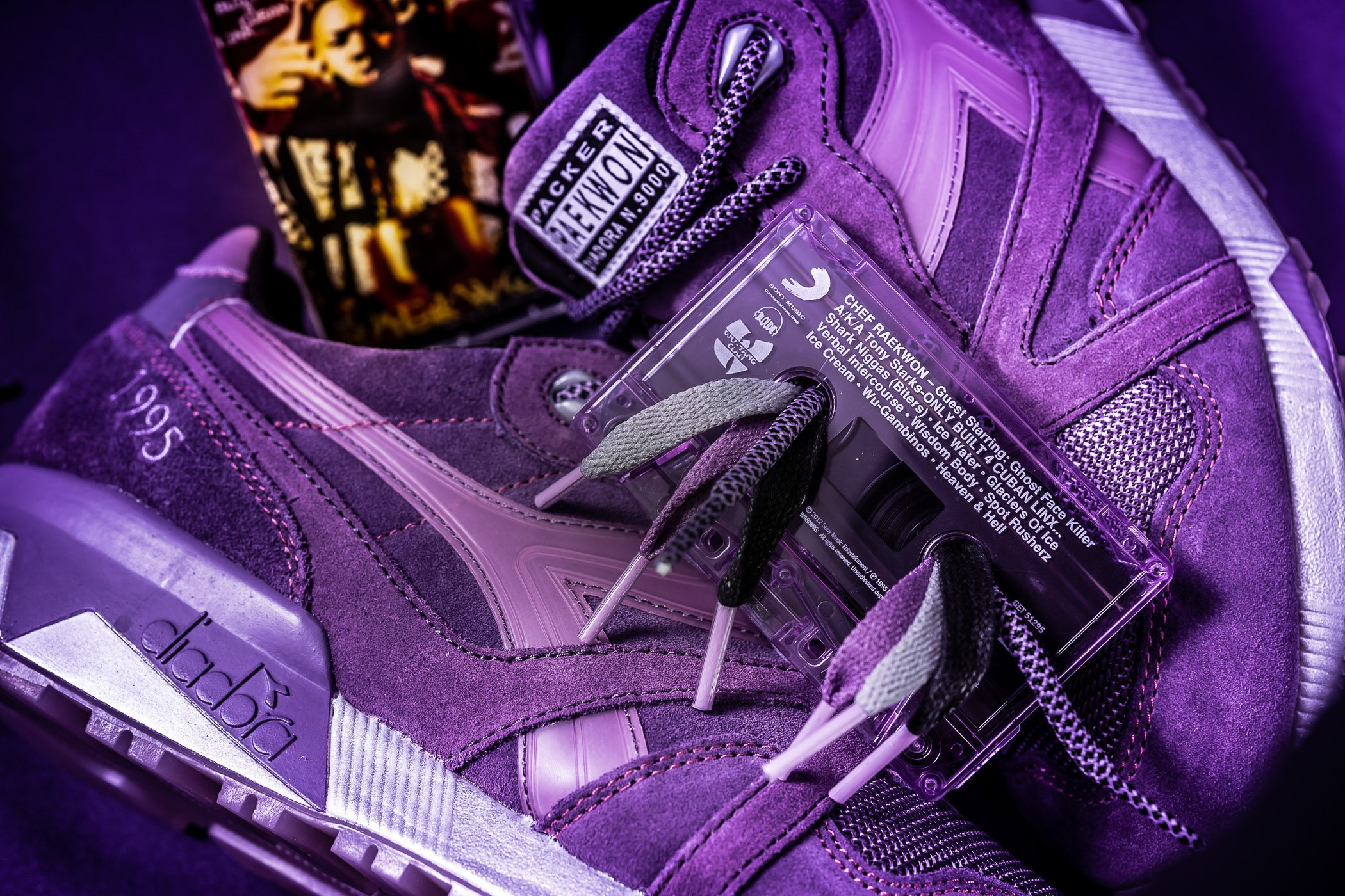 Packer Shoes x Raekwon x Diadora N9000 Purple Tape 1