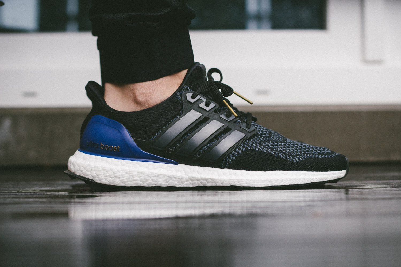 adidas Ultra Boost Black Blue 1
