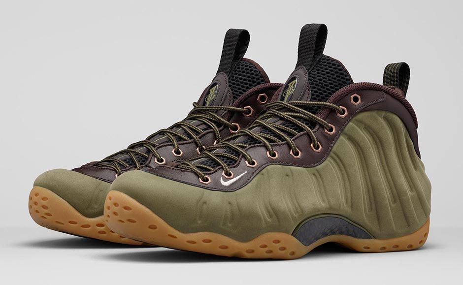 nike air foamposite one olive 1