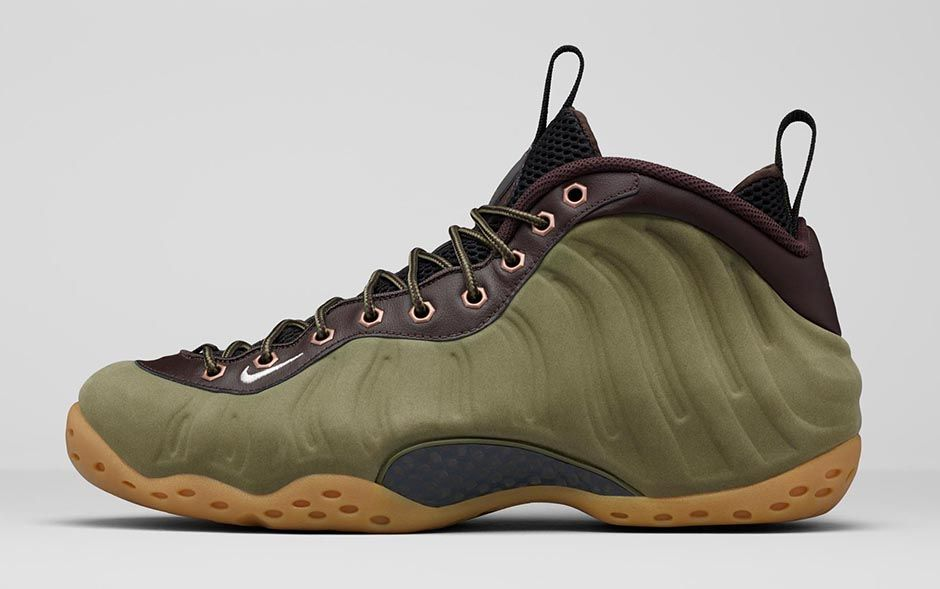 nike air foamposite one olive 2