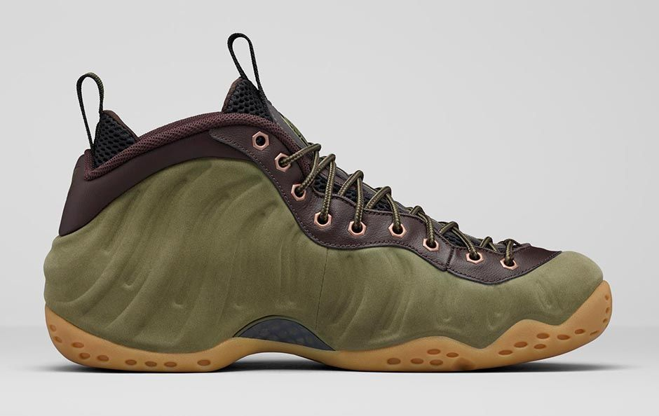 nike air foamposite one olive 5
