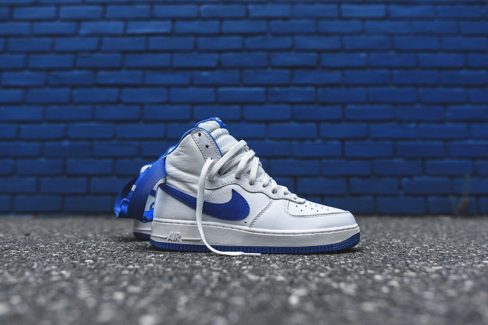 Nike Air Force 1 Hi Retro White Game Royal 11