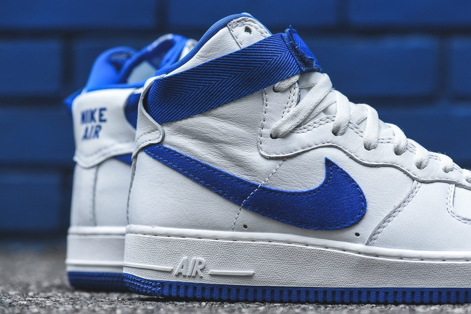 Nike Air Force 1 Hi Retro White Game Royal 8