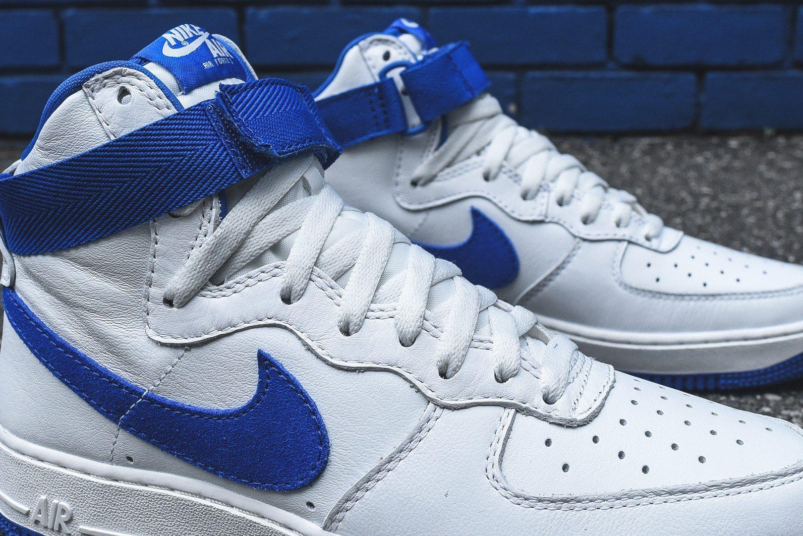Nike Air Force 1 Hi Retro White Game Royal 9