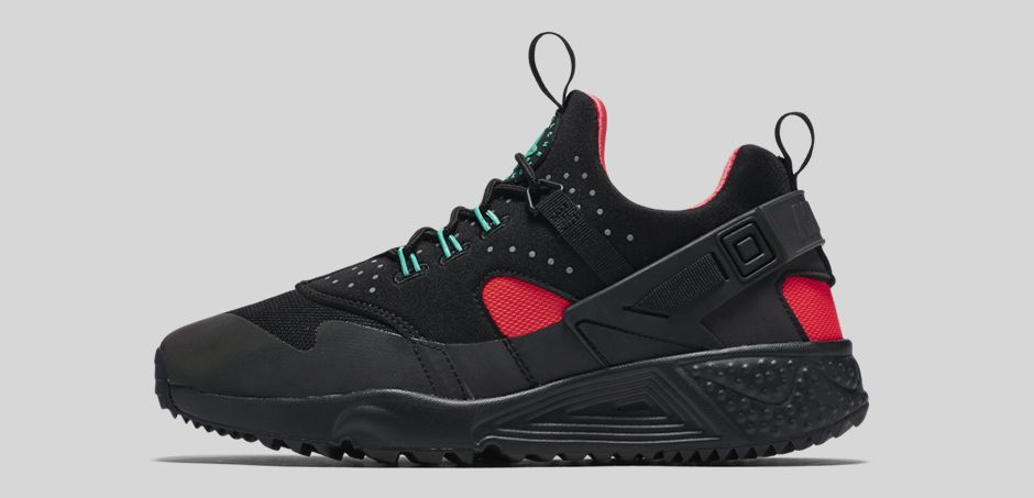 Nike Air Huarache Utility Black Bright Crimson