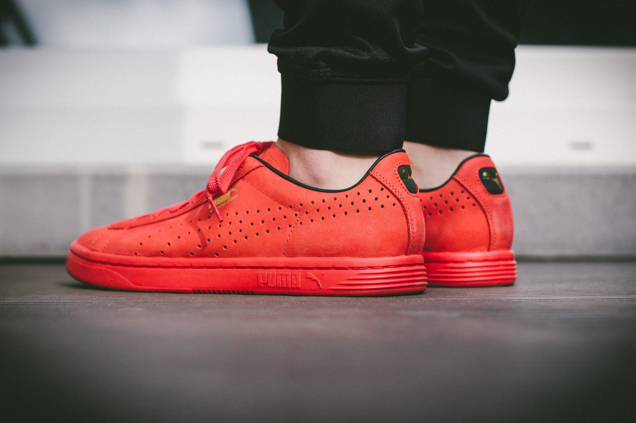 puma court star all red