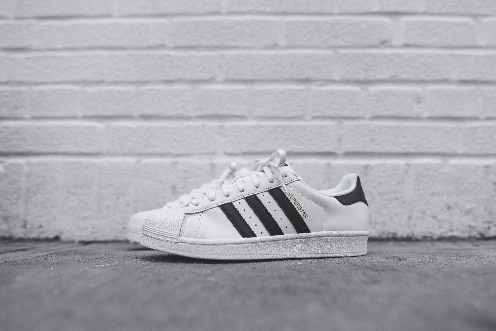 adidas Originals Superstar White Black 3