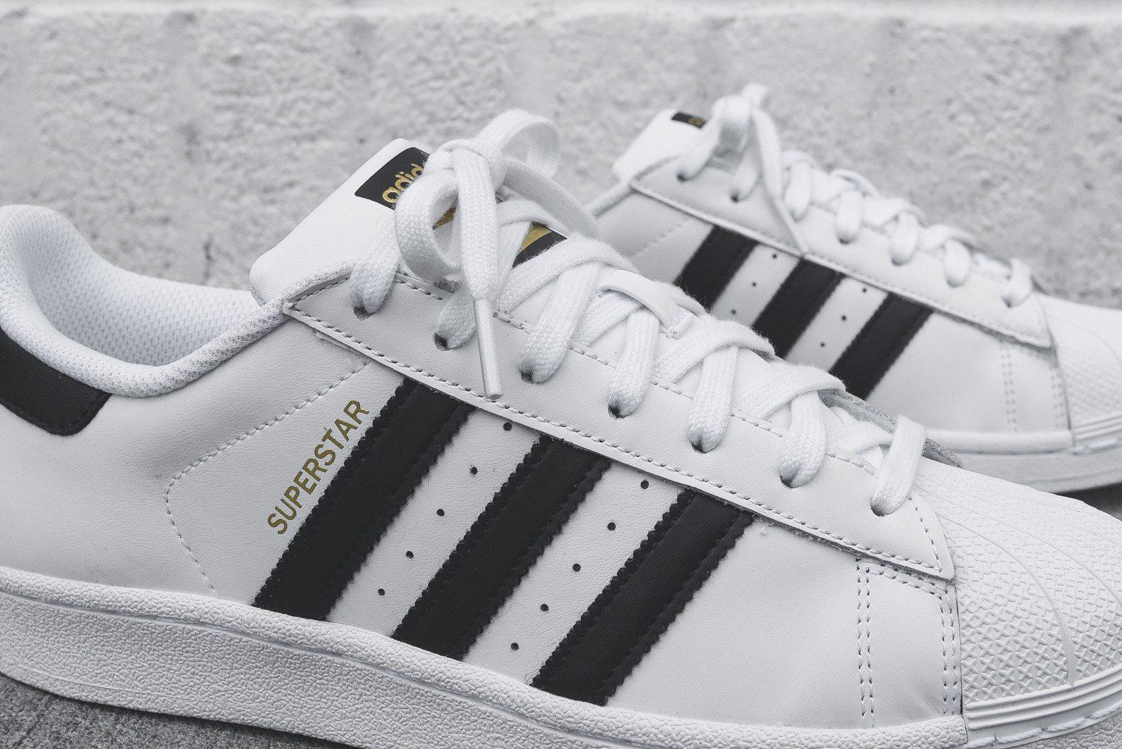 adidas Originals Superstar White Black 8