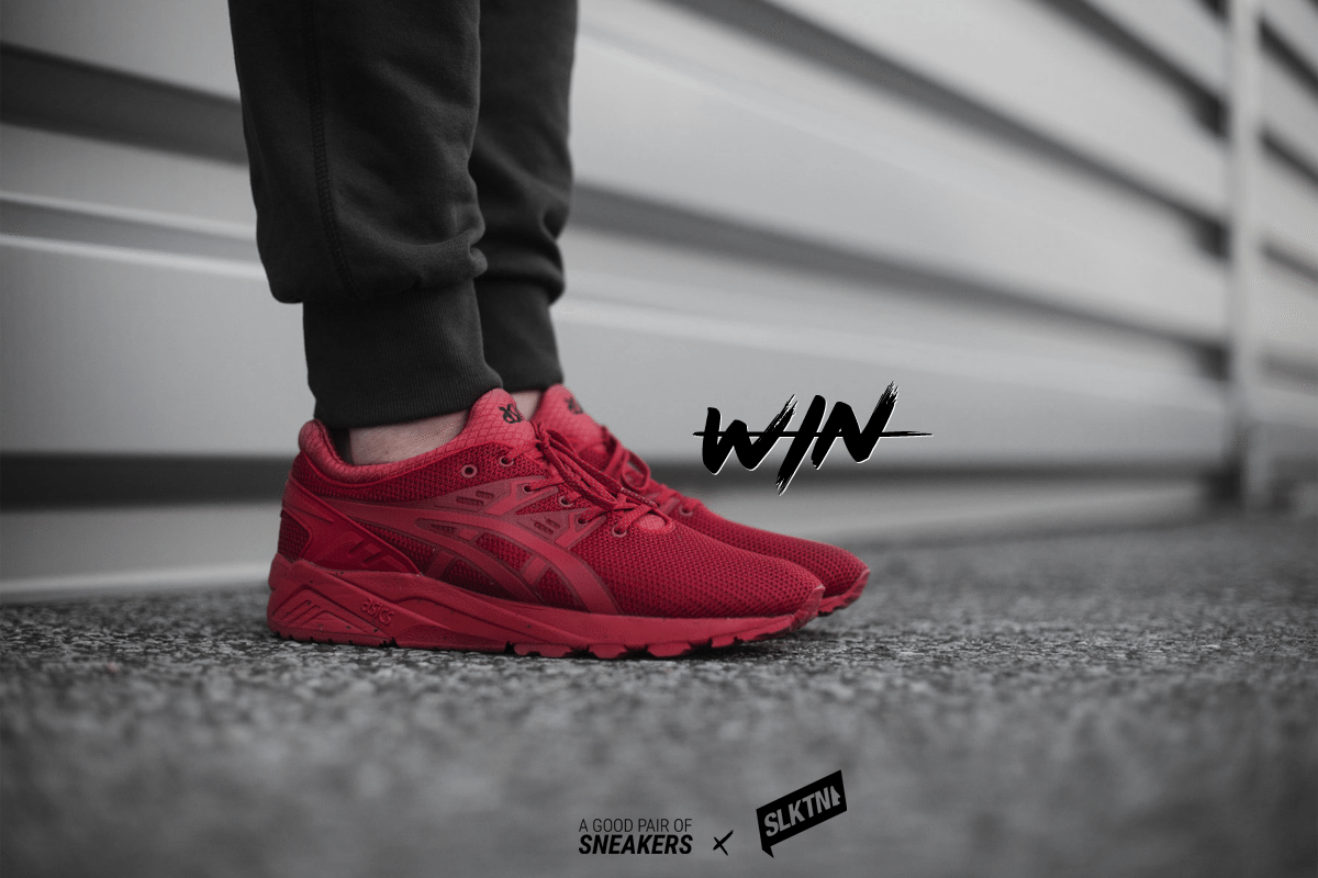 solekitchen x agpos asics Gel KayanoTrainer Evo All Red