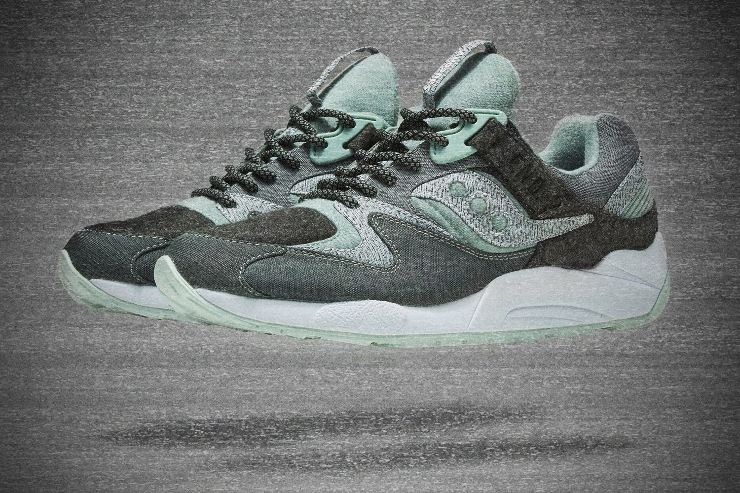 END x Saucony GRID 9000 White Noise 1