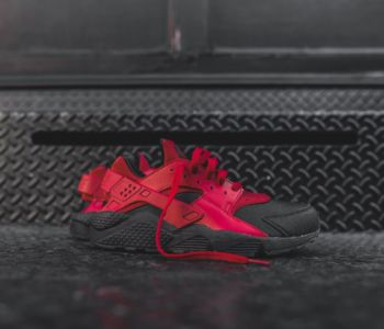Nike Air Huarache Run PRM Black Gym Red 1 350x300