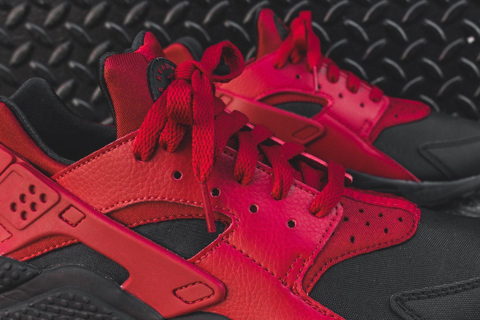 Nike Air Huarache Run PRM Black Gym Red 8