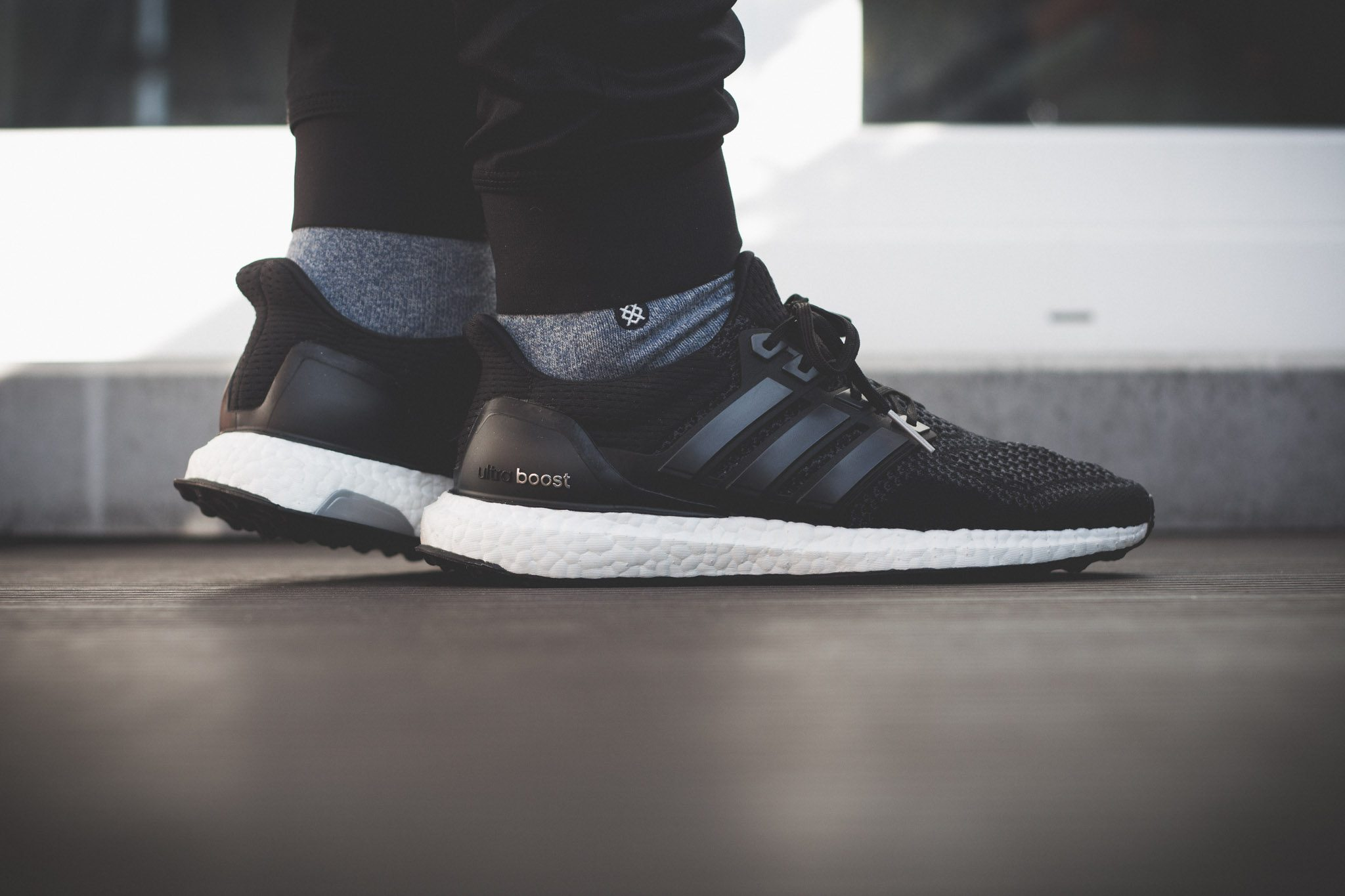 adidas Ultra Boost Black White 11