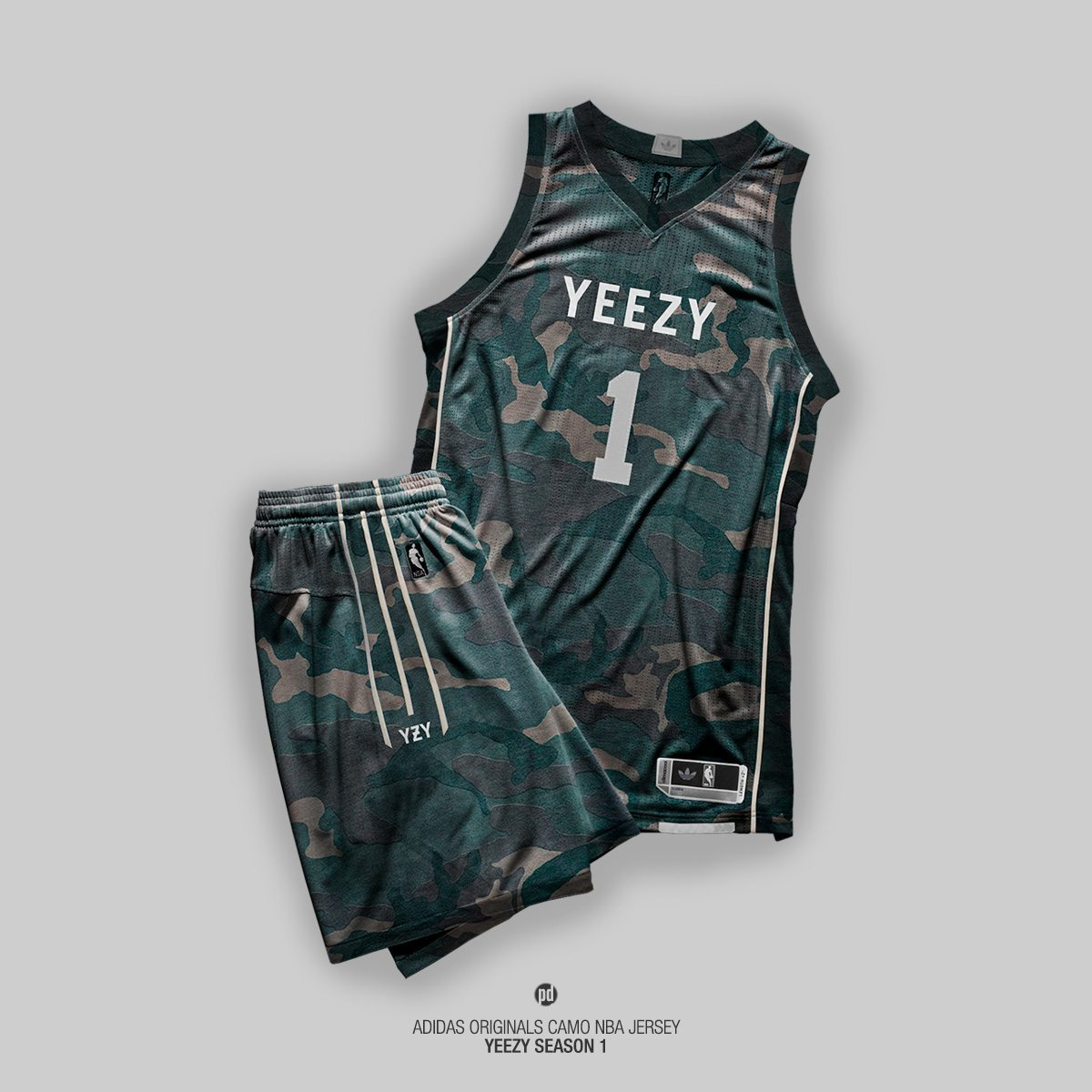 adidas Yeezy Season 1 Basketball Jerseys 2
