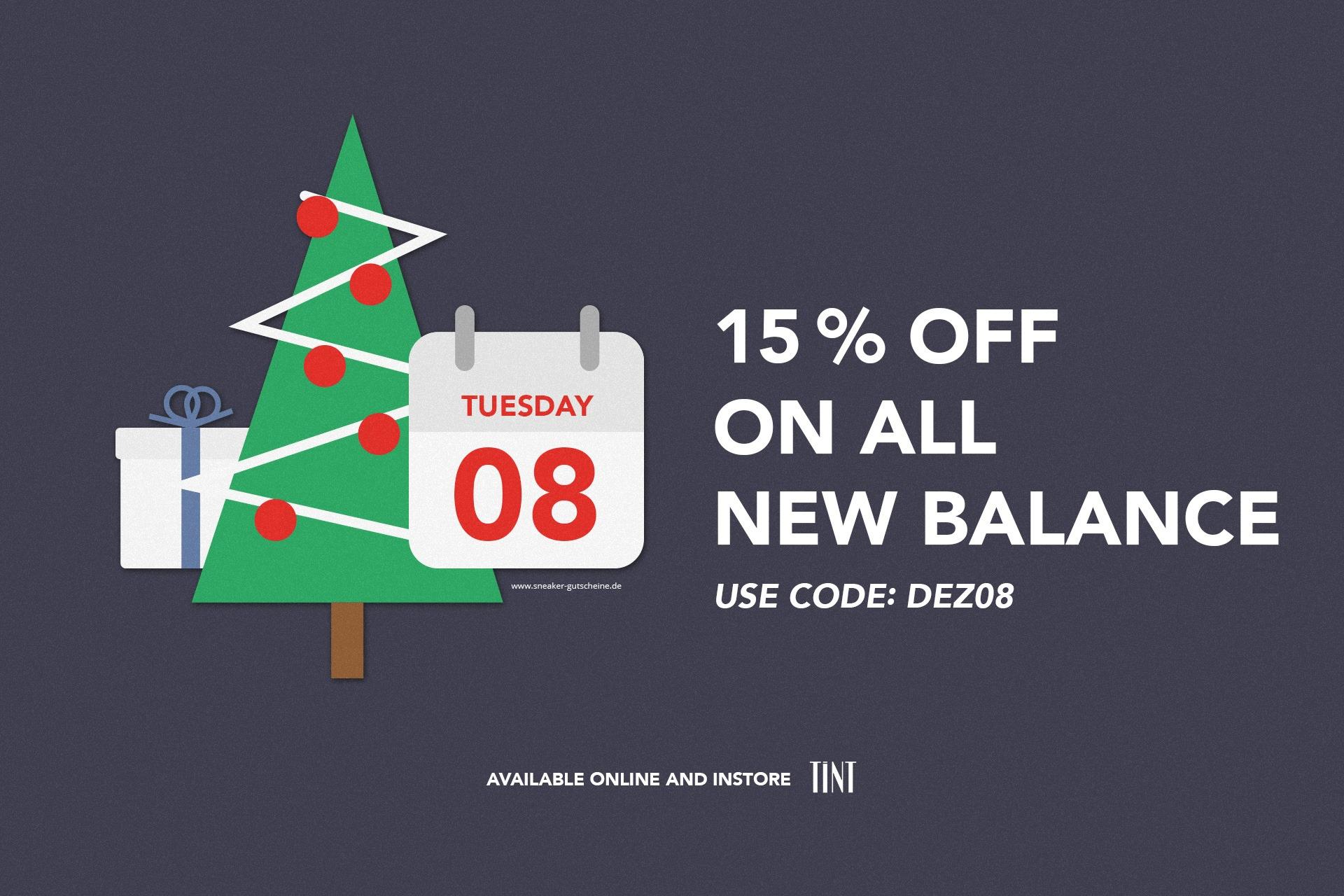 15 Prozenz Rabatt New Balance