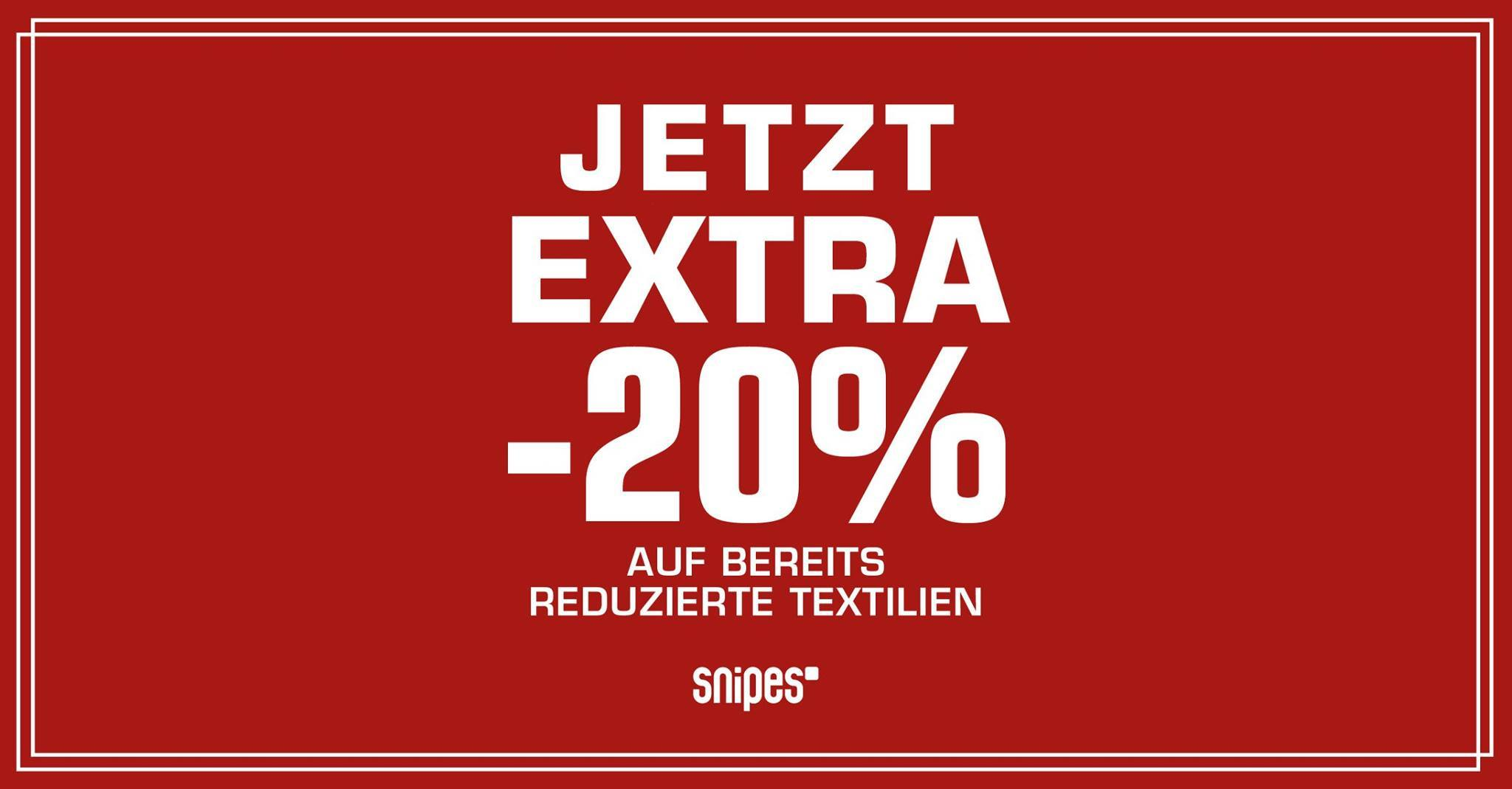 Snipes 20 Prozent Extra Rabatt Sale
