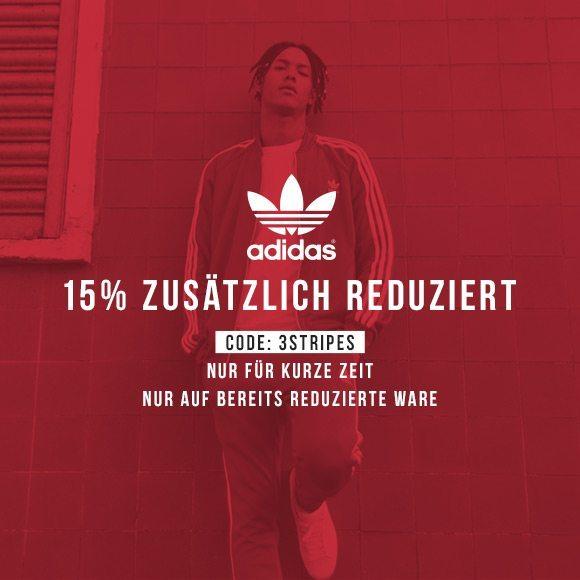 KICKZ 15 Prozent Extra Rabatt auf adidas
