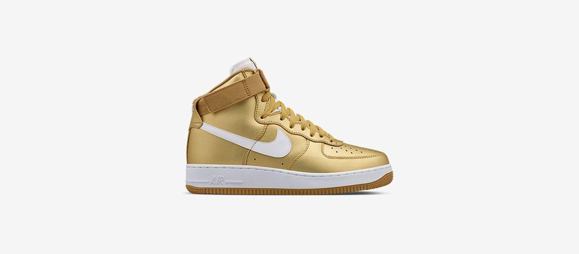 NikeLab Air Force 1 High Gold Metallic