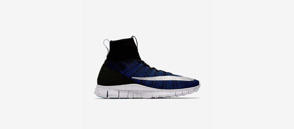 Nike Free Flyknit Mercurial Black Blue