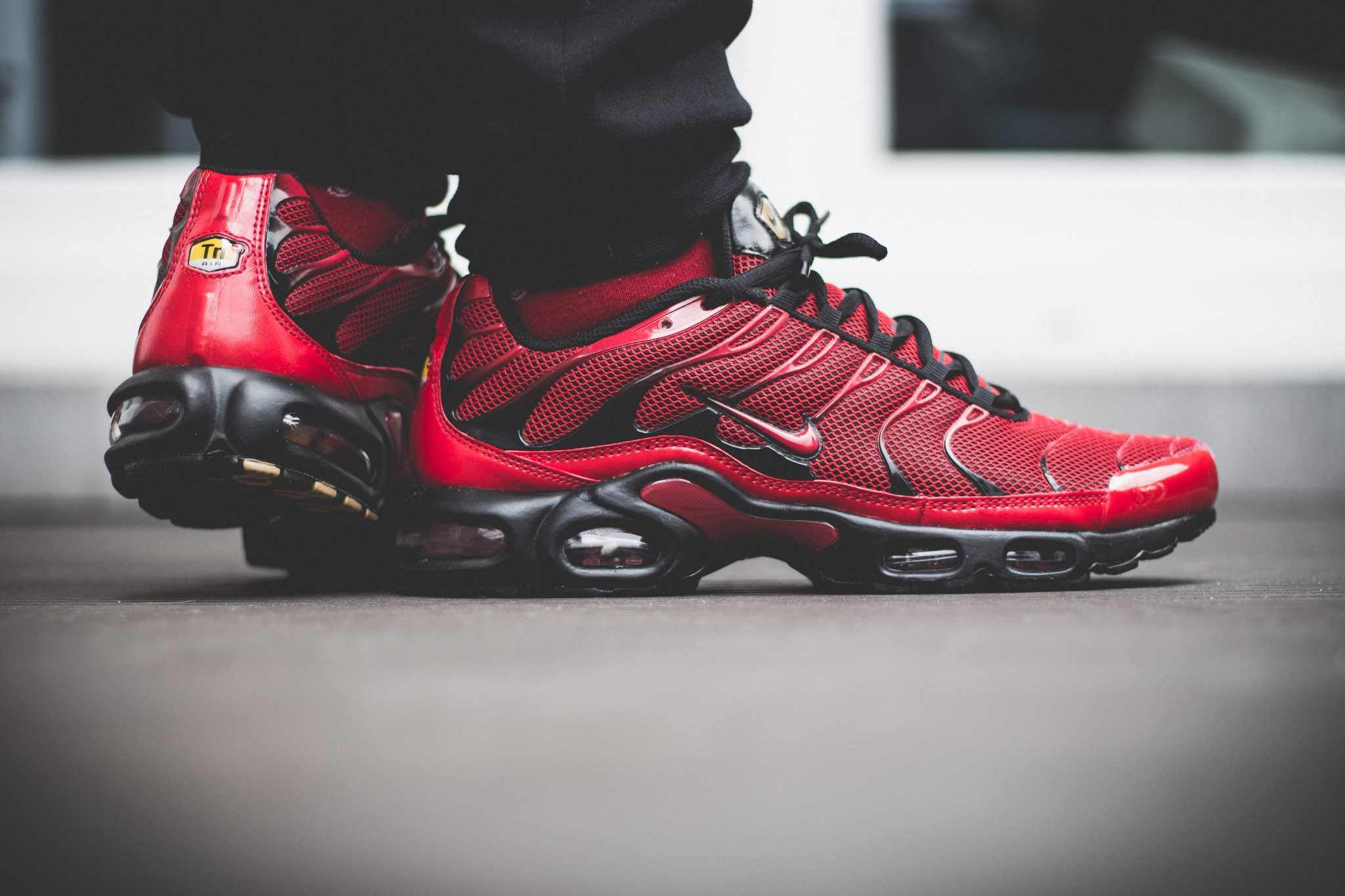 Nike Tuned 1 Red On Feet 10