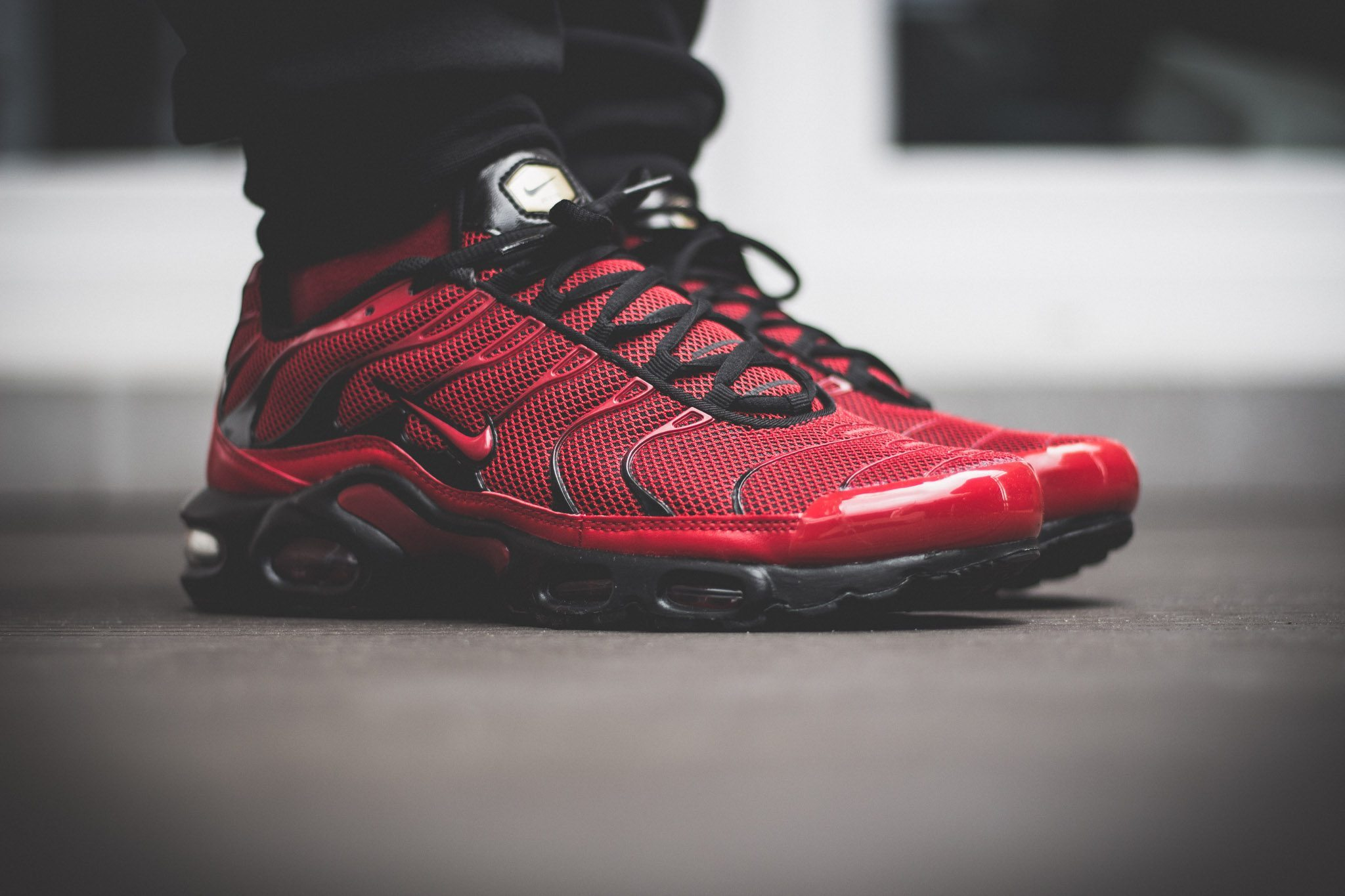 Nike Tuned 1 Red On Feet 2