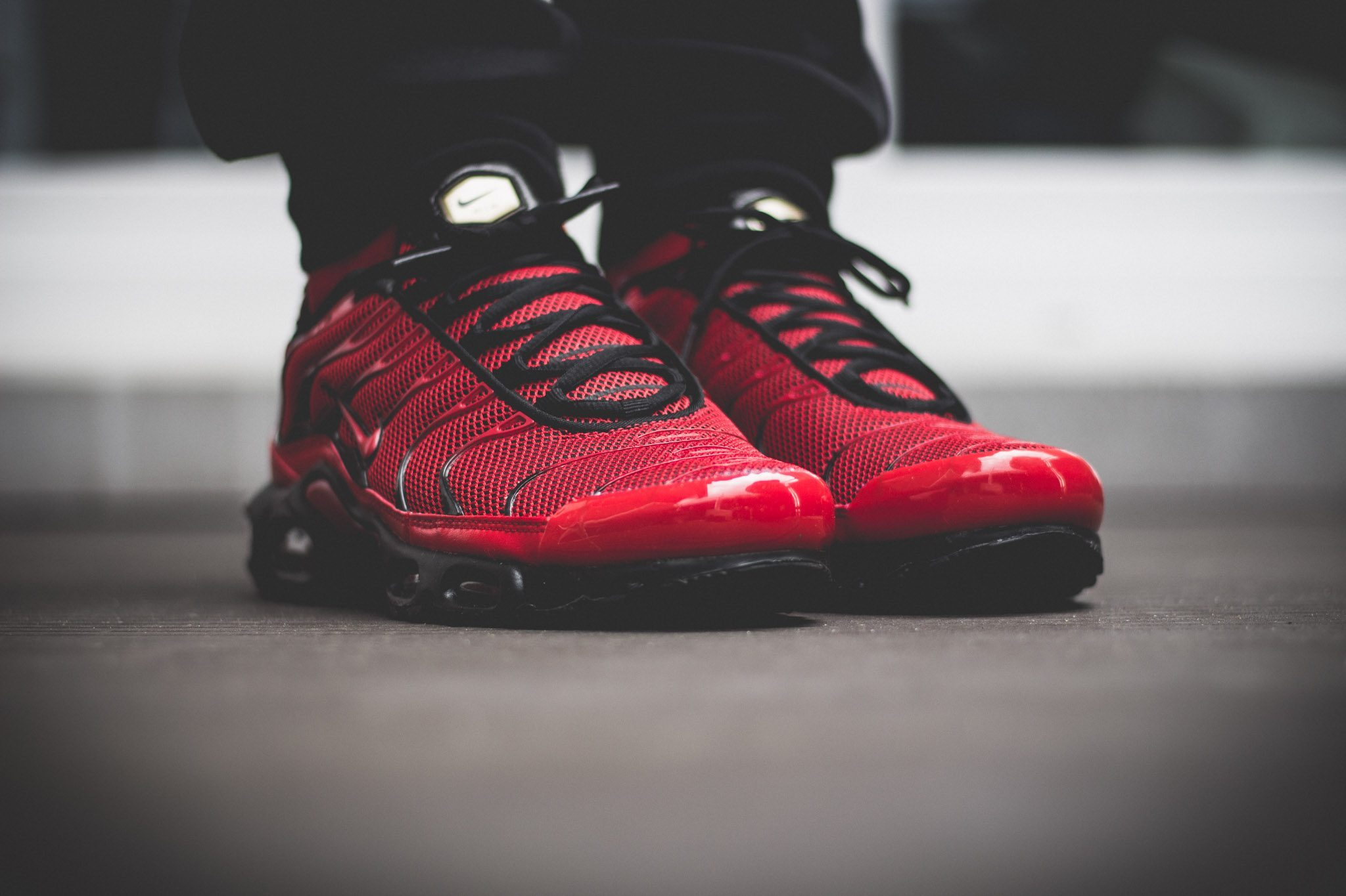 Nike Tuned 1 Red On Feet 3