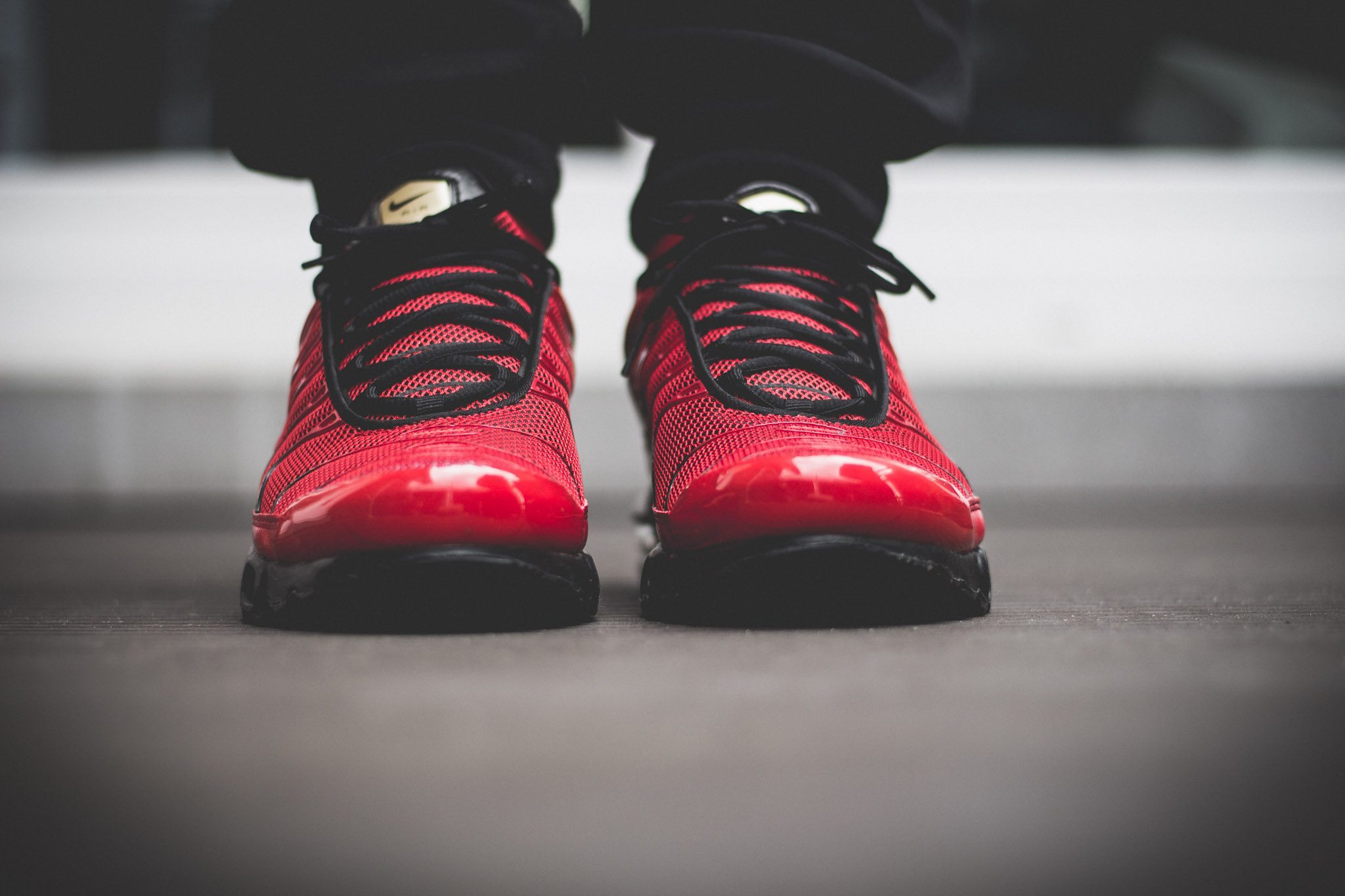 Nike Tuned 1 Red On Feet 4