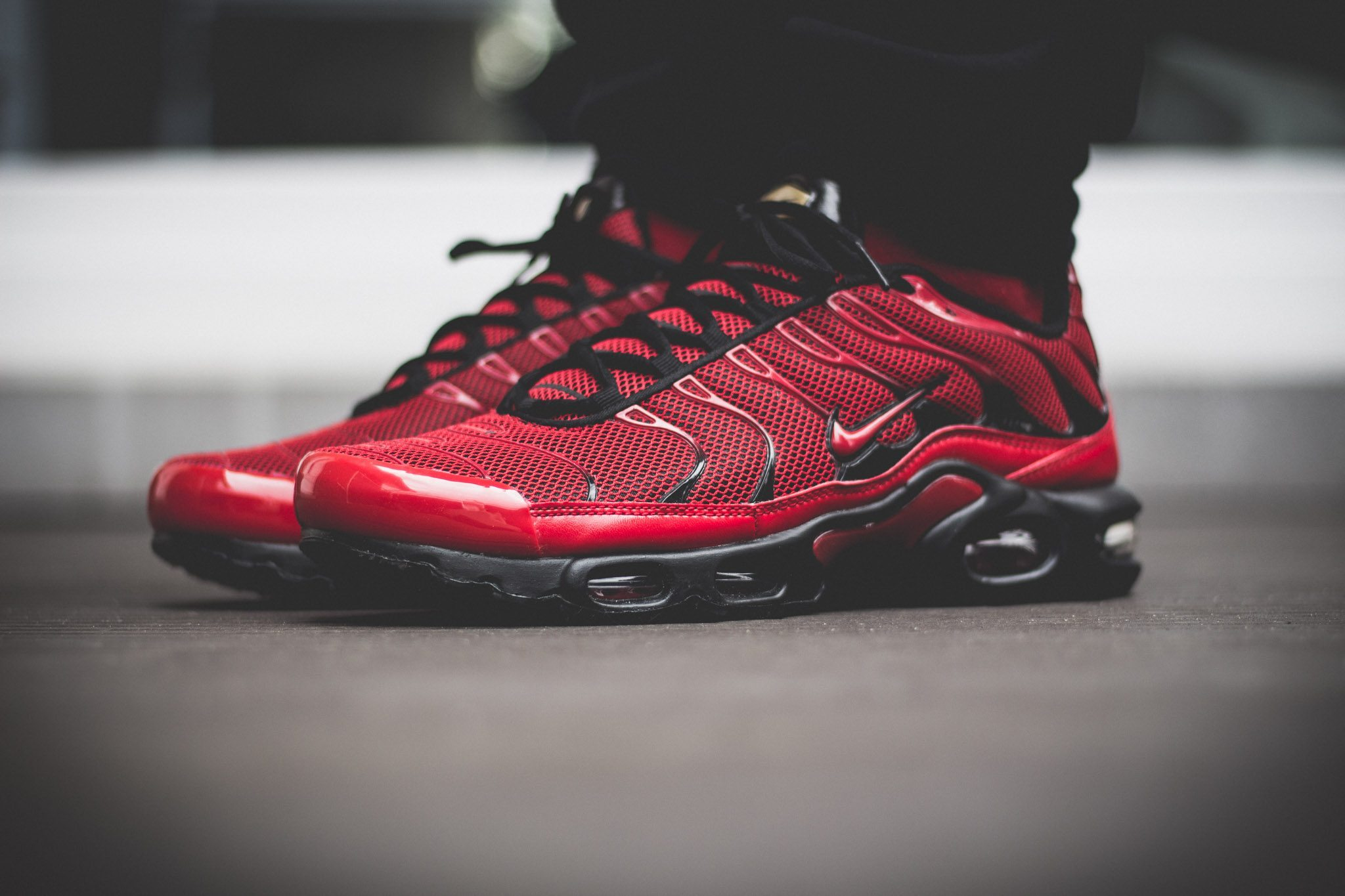 Nike Tuned 1 Red On Feet 5