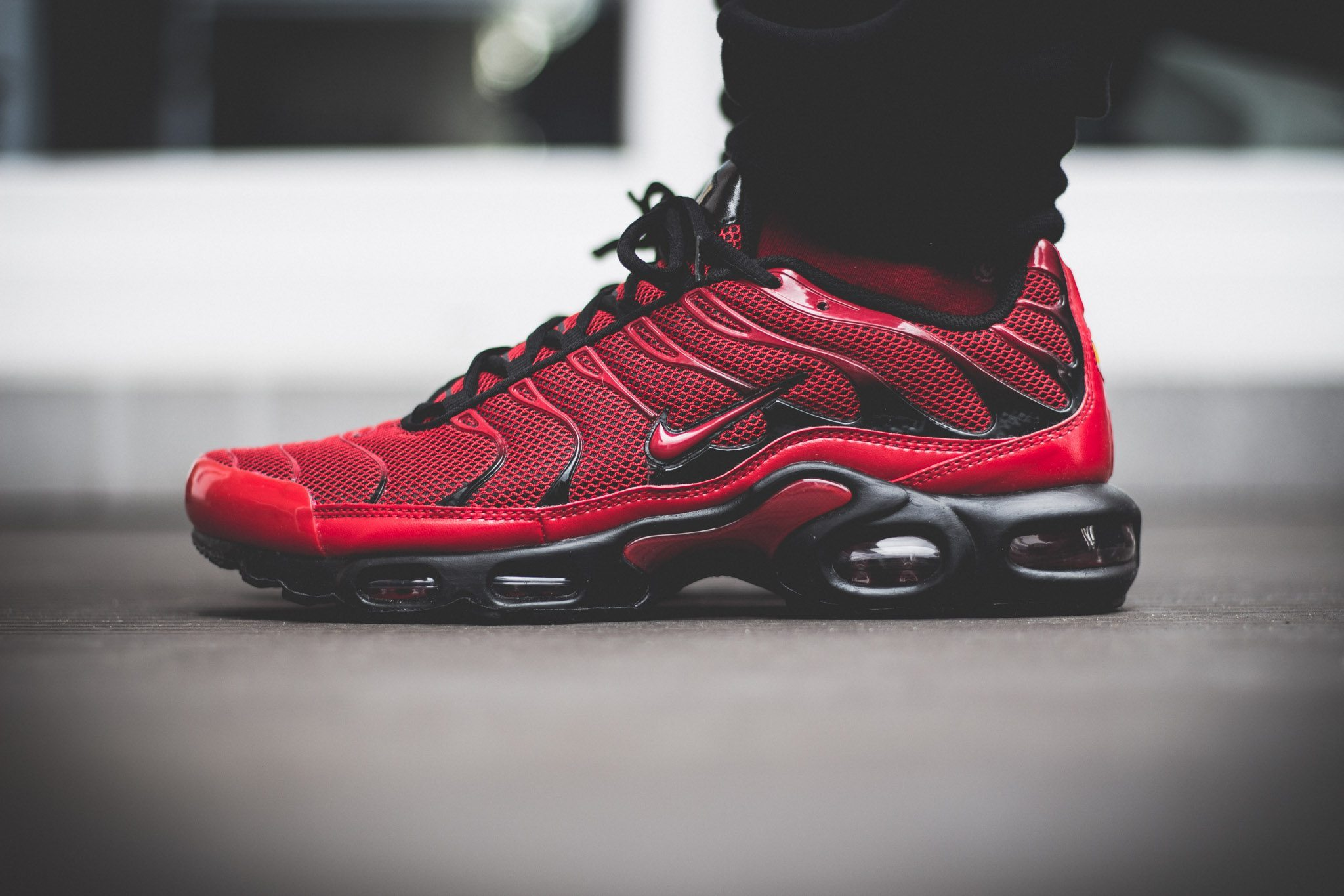 Nike Tuned 1 Red On Feet 6