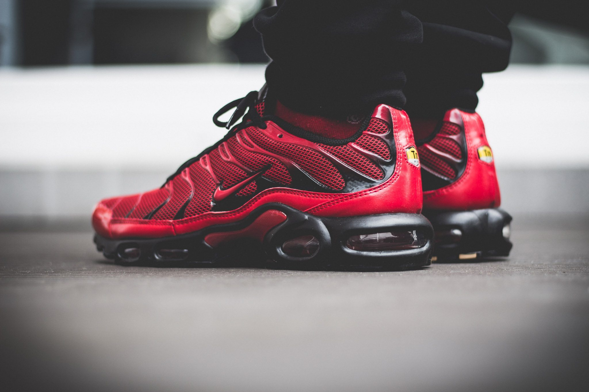 Nike Tuned 1 Red On Feet 7