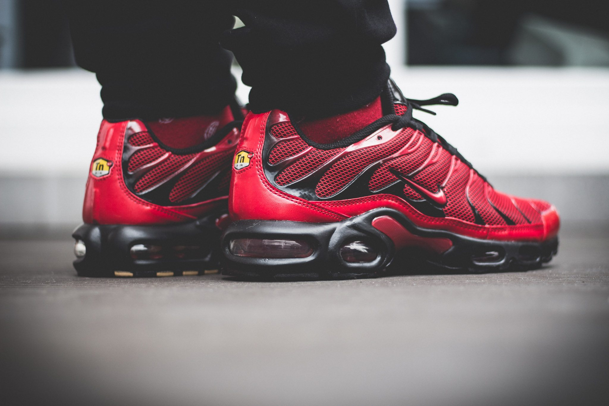 Nike Tuned 1 Red On Feet 9