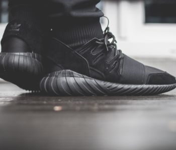 adidas Originals Tubular Doom All Black On Feet 10 350x300