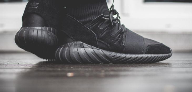 adidas Originals Tubular Doom All Black On Feet 10 730x350