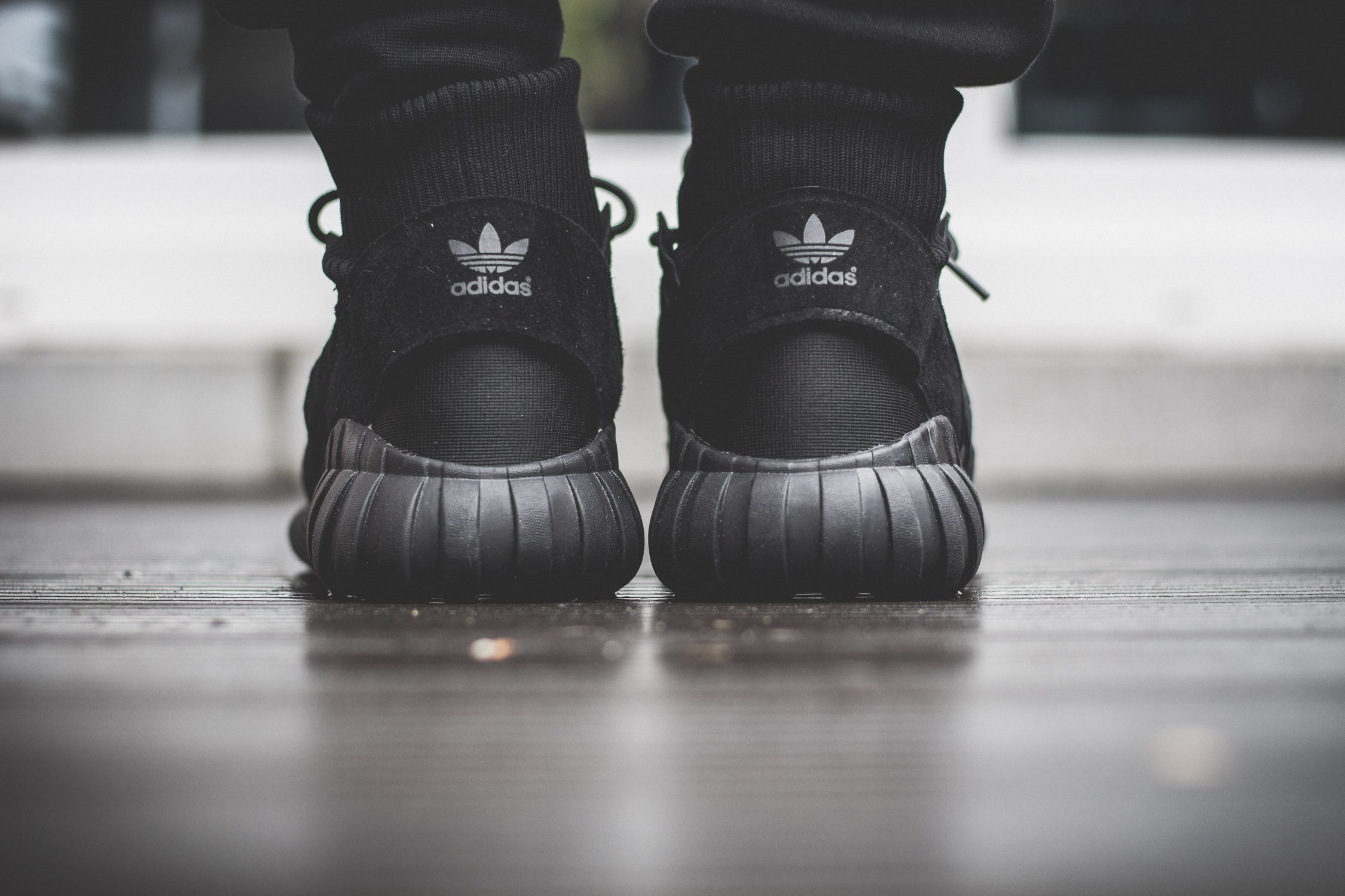 adidas Originals Tubular Doom All Black On Feet 8