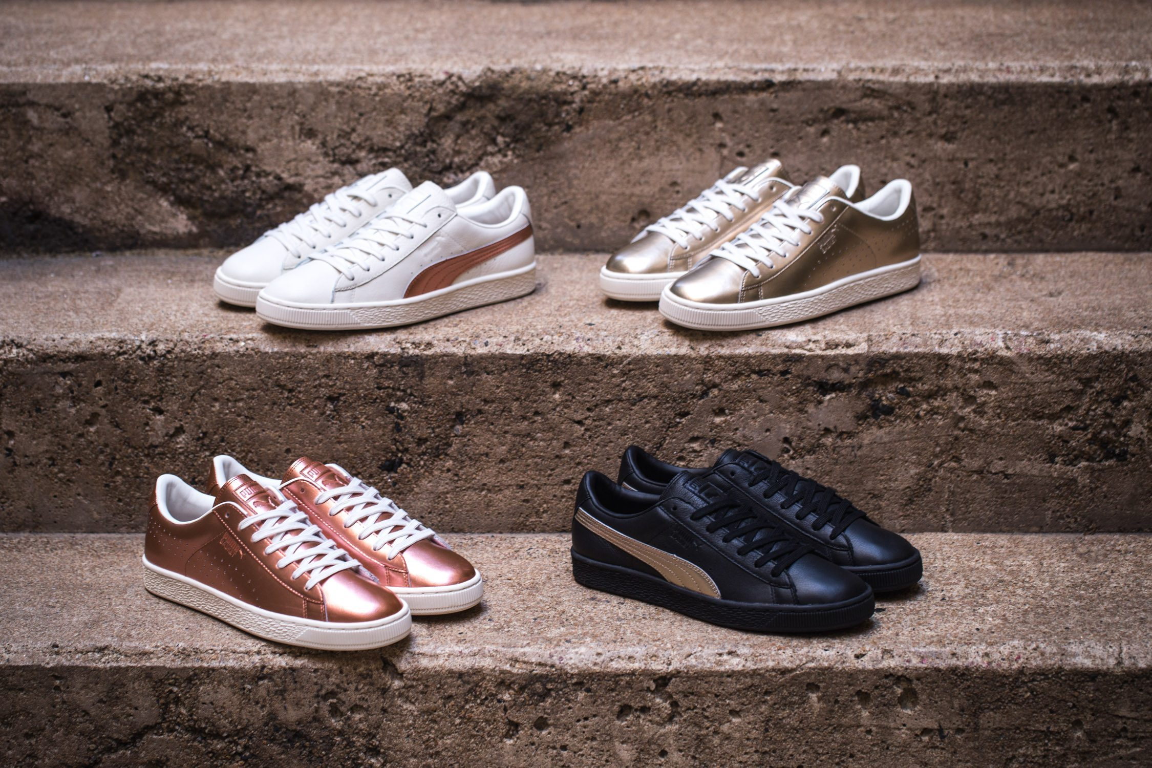 SNIPES x PUMA Basket Metallic Pack 4