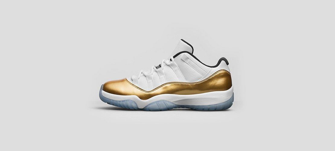 Air Jordan 11 Low Metallic Gold 1110x500