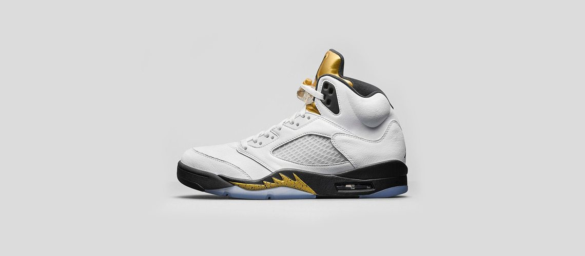Air Jordan 5 White Gold Metalic