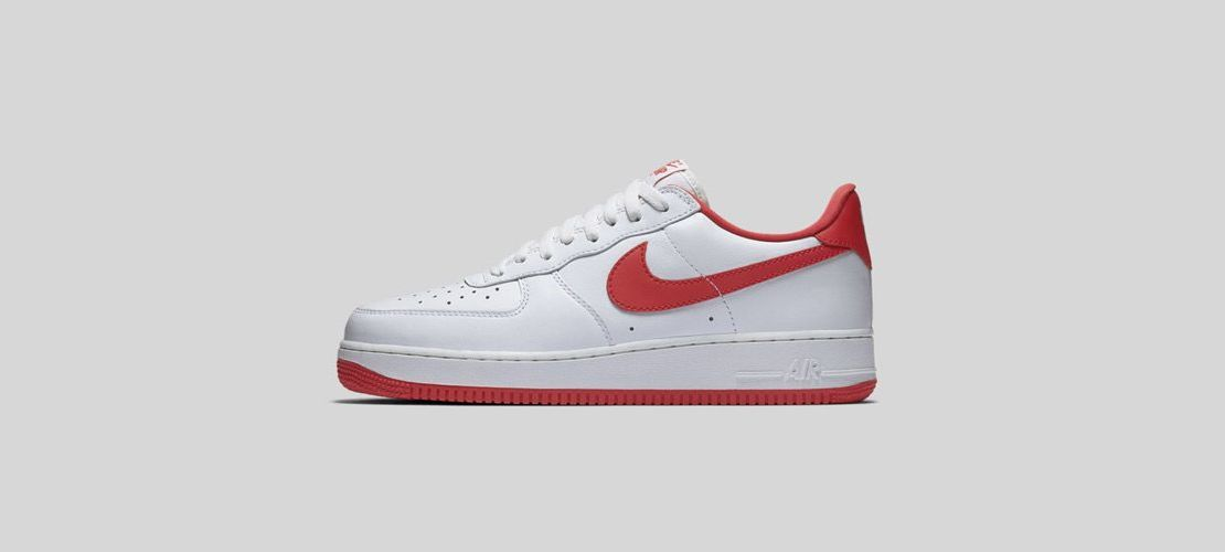 Nike Air Force 1 Low White Red 1110x500