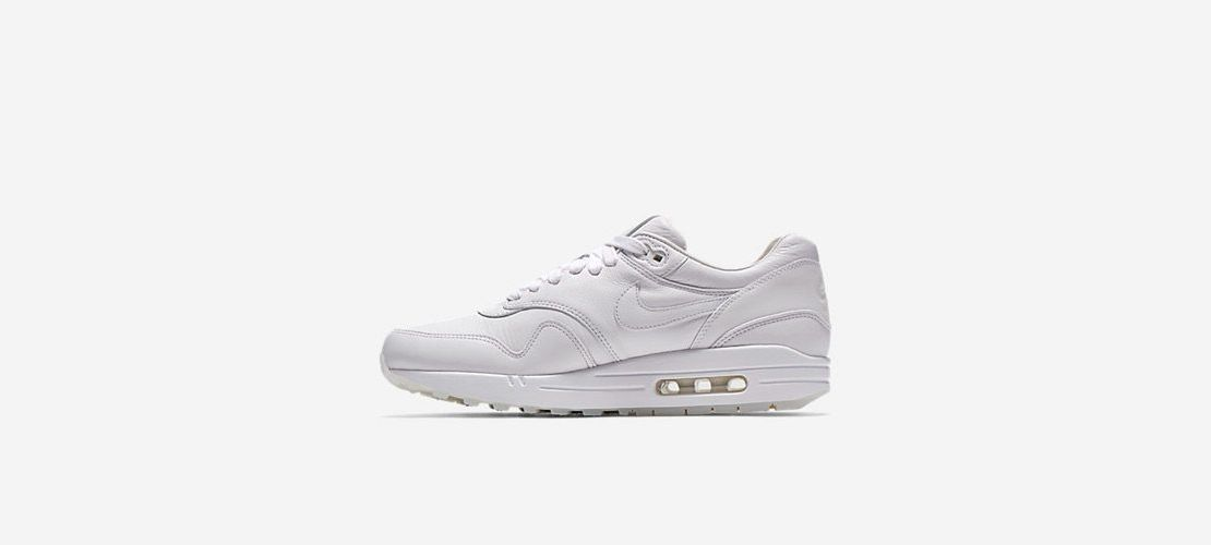 Nike Air Max 1 Deluxe All White 1110x500